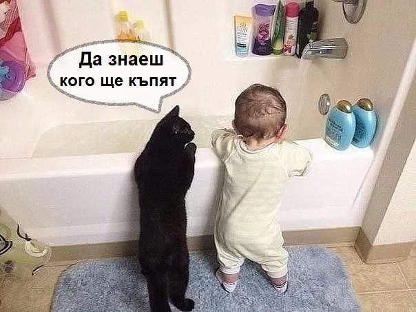 Да знаеш кого ще къпят?<br />