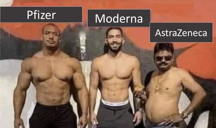 Pfizer, Moderna, AstraZaneka
