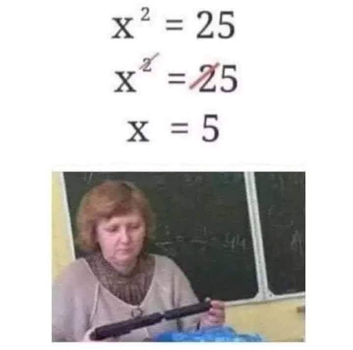 x^2 = 25