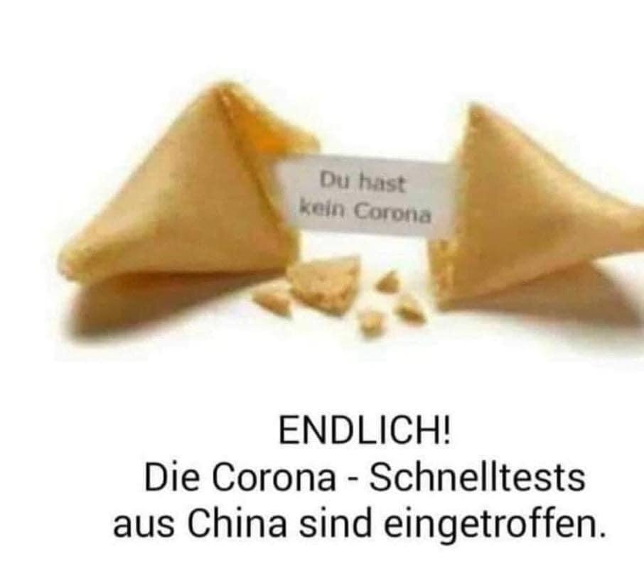 ENDLICH! Die Corona - Schnelltests aus China sind eingetroffen.