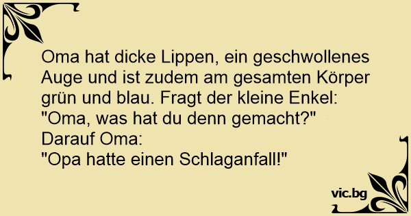 Oma opa witze Altersheim, Oma,