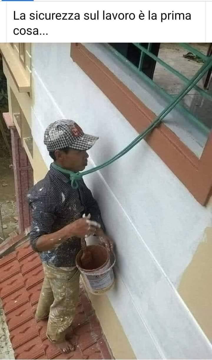 La sicurezza sul lavoro é la prima cosa...