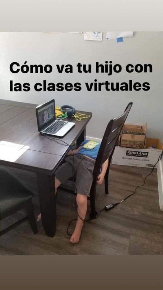 Cómo va tu hijo conlas clases virtuales