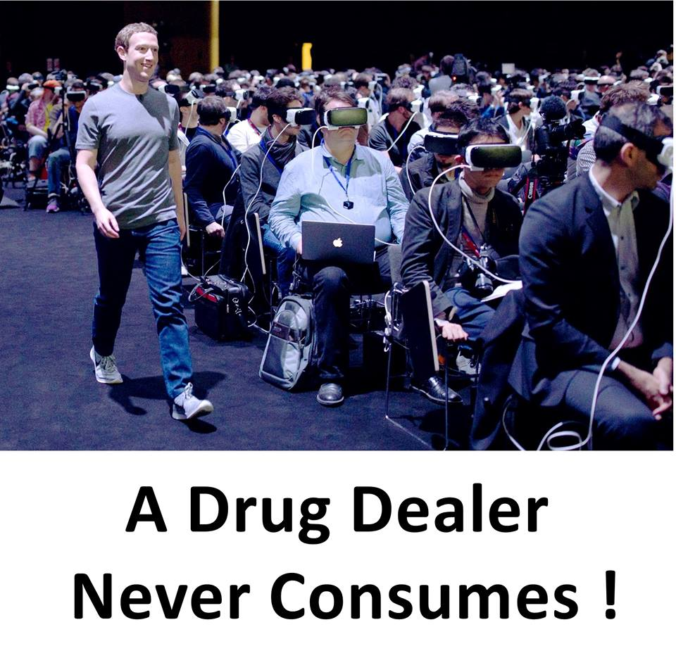 A drug dealer never consumes