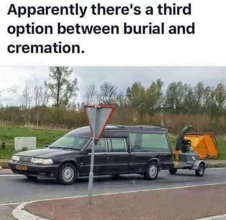Apparently there's a third option between burial and cremation.