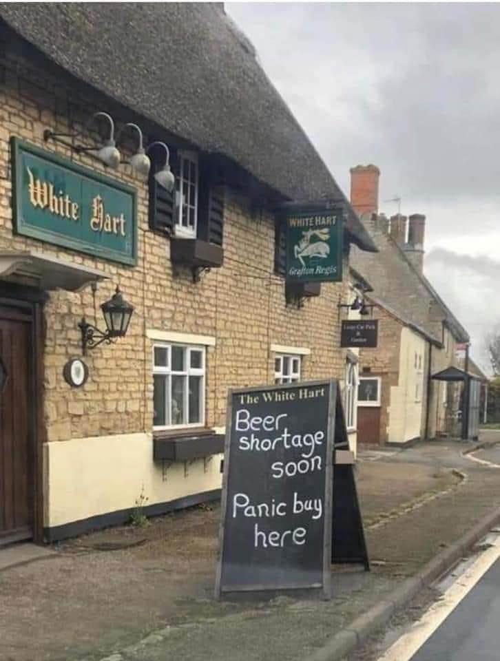 Beer shortage soon. Panic buy here