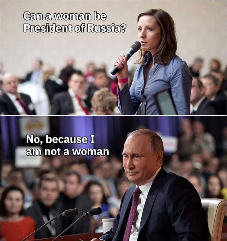 - Can a woman be a president of Russia?