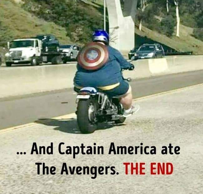 Captain America ate the Avengers