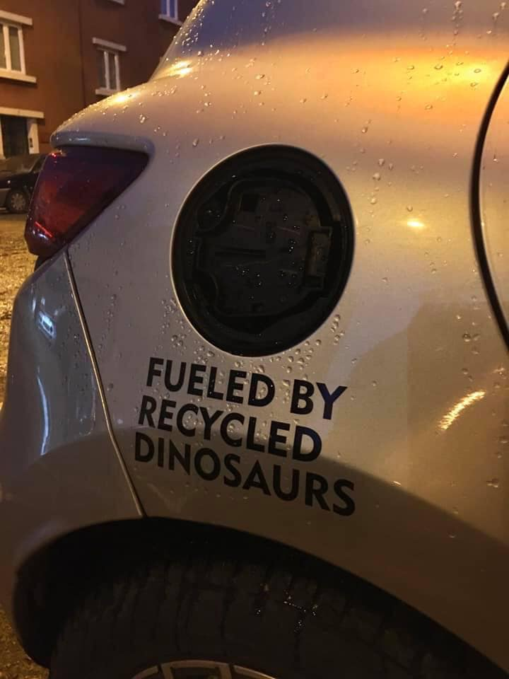 Fueled with recycled dinosaurs