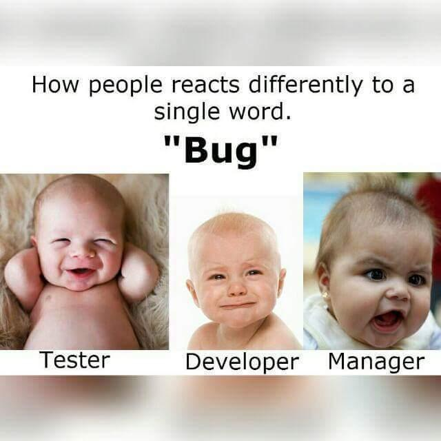 """How people reacts differently to a single word """"Bug"""""""