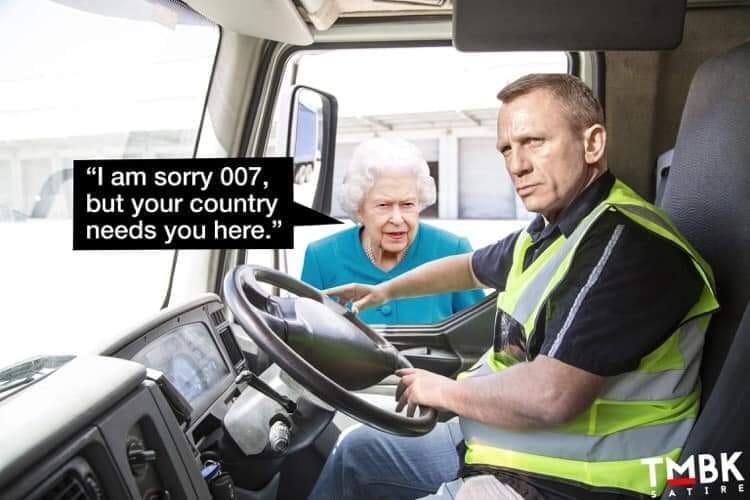 I am sorry 007, but your country needs you here