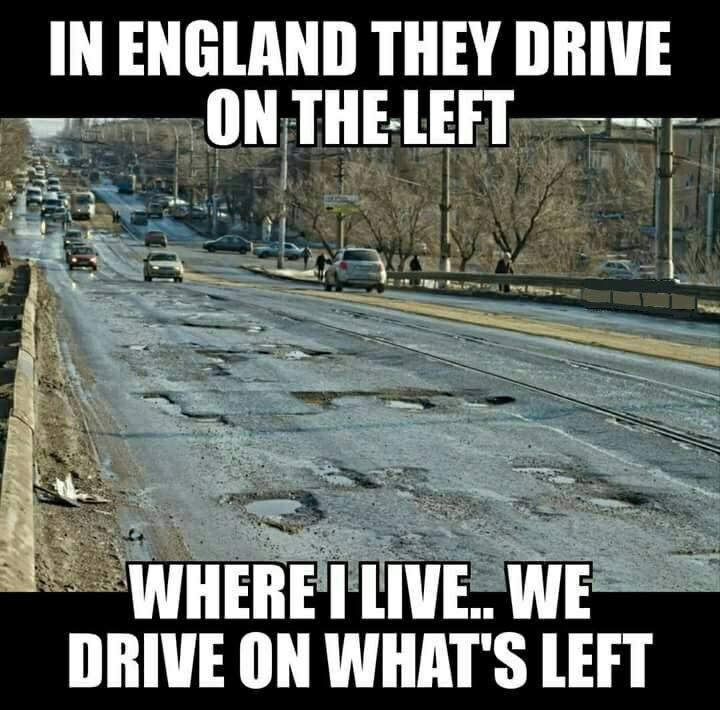 In Englland they drive on the left