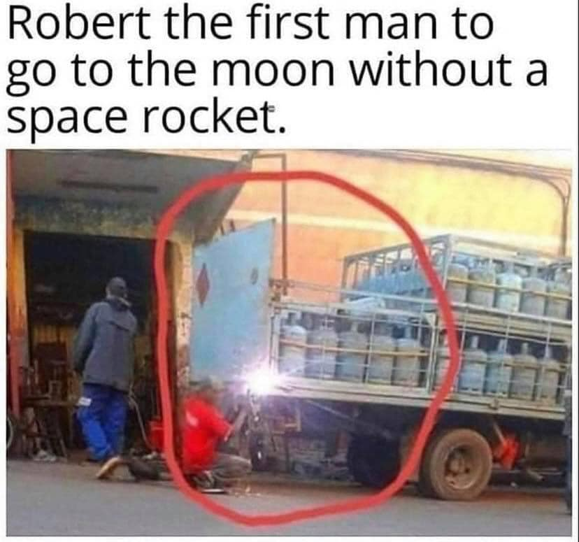 Robert, the first man to go to the Moon without a space rocket