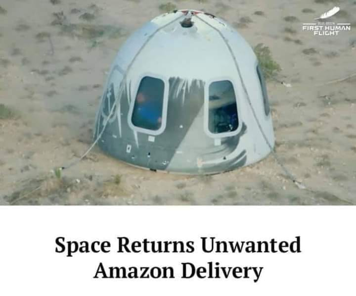 Space returns unwanted amazon delivery