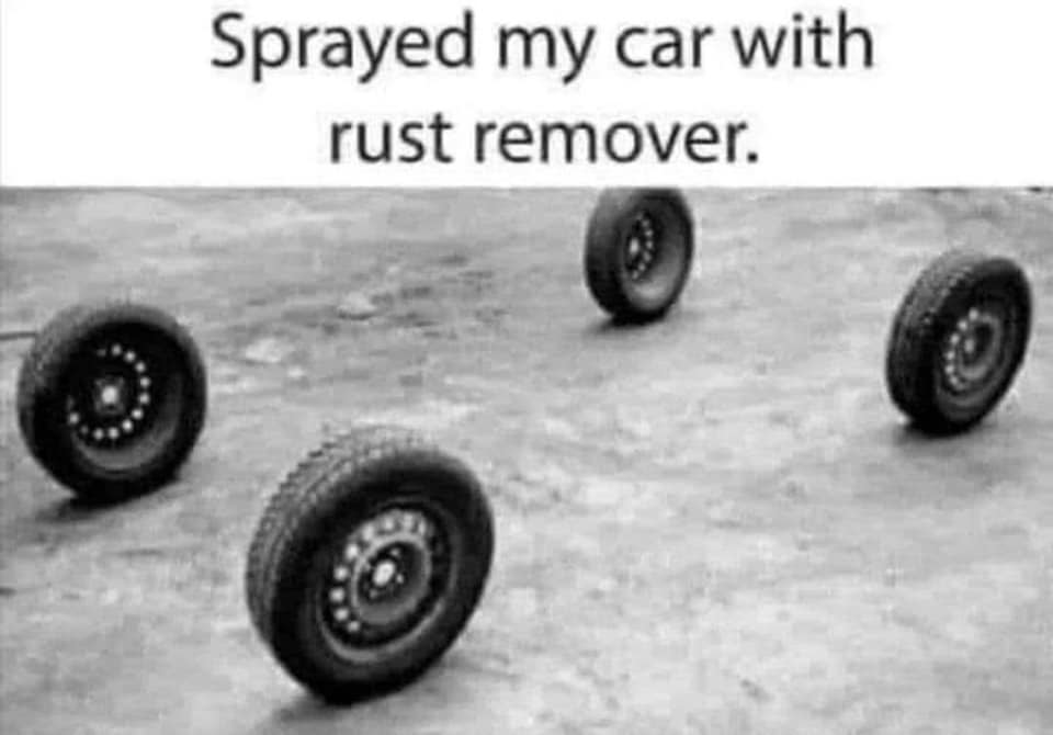 Sprayed my car with rust remover