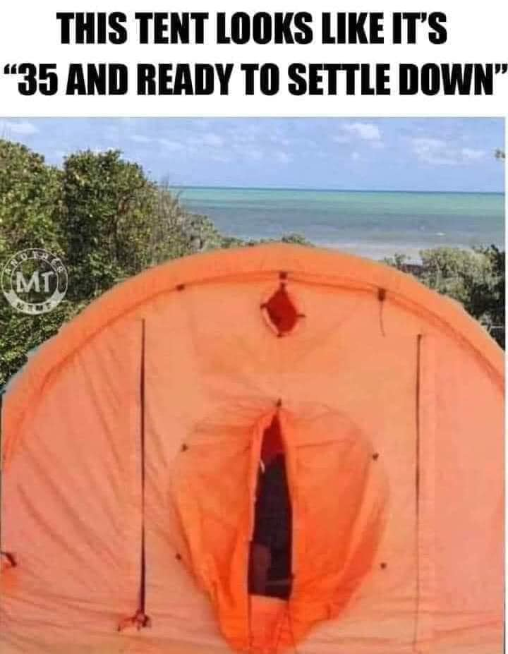 THIS TENT LOOKS LIKE IT'S